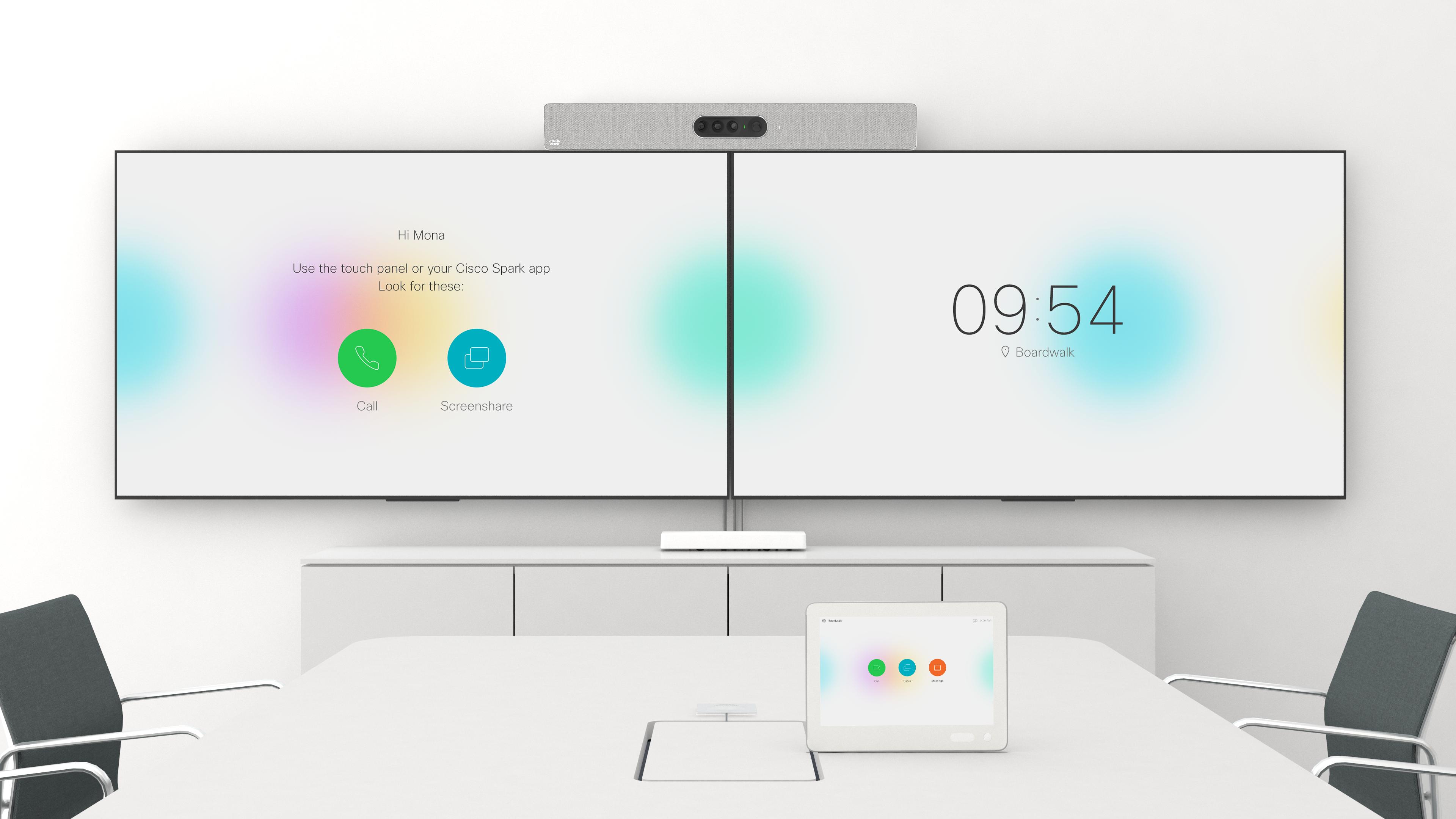 Cisco Spark Room Kit Plus dual screens